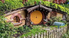 Hobbiton™ Movie Set, as featured in The Lord of the Rings and The Hobbit trilogies.