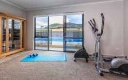 Image of heated pool from guest gym